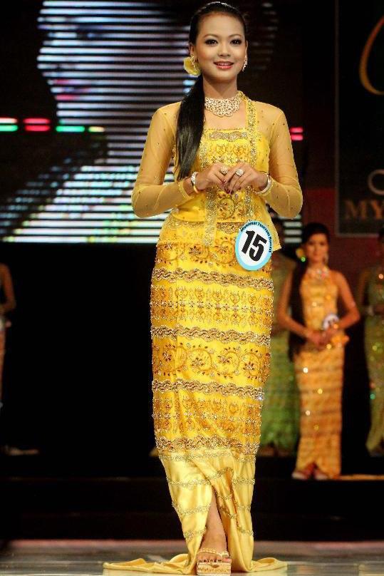 缅甸小姐 缅甸选美 佳丽 缅甸传统服饰