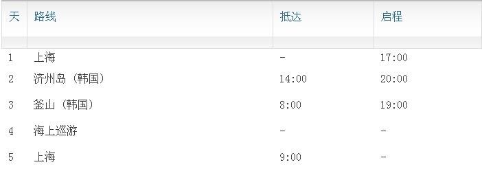 情人节礼物 豪华邮轮韩国5日游 秒杀