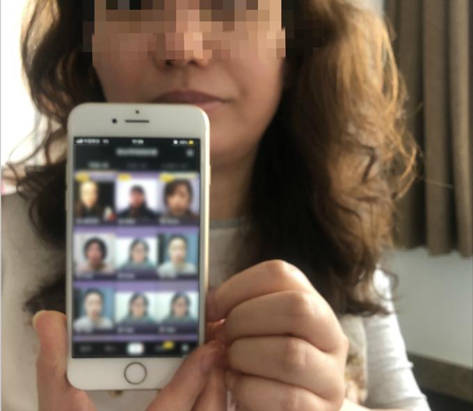 """""""紫丝带妈妈的爱""""群主小萍给记者分享她们的抖音视频。.png"""