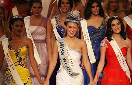 世界小姐大赛美国姑娘夺冠 唐潇挺进前五