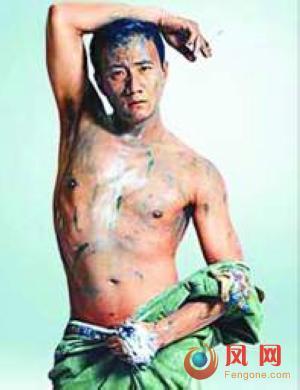 黄晓明何润东 大秀S型半裸身材的性感男星