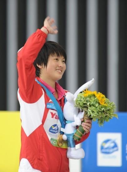女子10米台 陈若琳 大满贯 冠军 胡亚丹 亚军