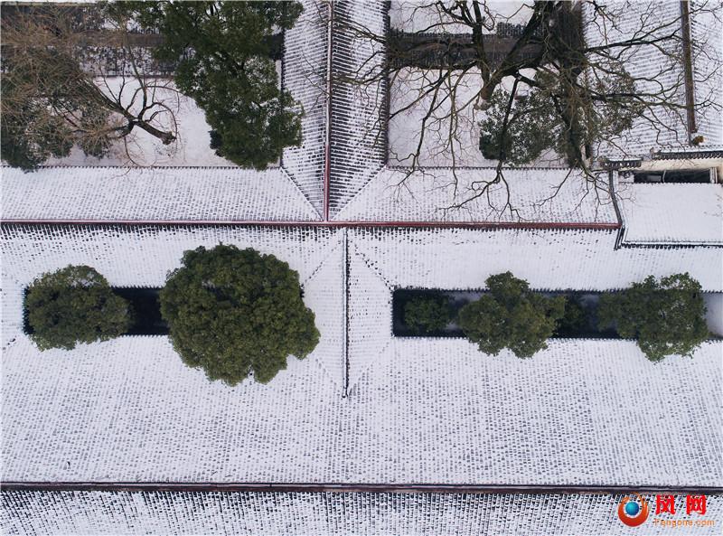 长沙雪景 梅溪湖 湖南大学 岳麓书院 金星路